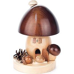 Smoker  -  Brown Mushroom  -  14cm / 5.5 inch
