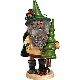 Smoker  -  Forest Gnome Tree Thief, Green  -  25cm / 10 inch