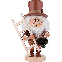 Smoker  -  Gnome Chimney Sweep  -  31,0cm / 12 inch