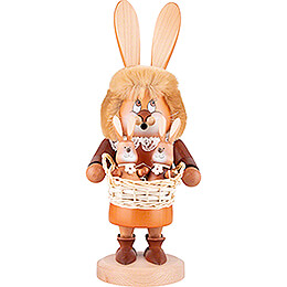 Smoker  -  Gnome Hare with Babies  -  34,5cm / 13.6 inch