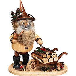 Smoker  -  Gnome with Wheel Barrow  -  25cm / 9.8 inch