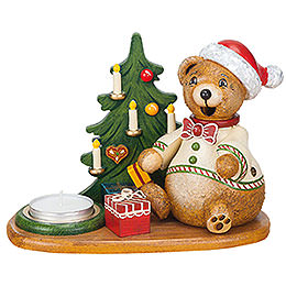 Smoker  -  Hubiduu  -  Teddy's Christmas Presents with Tea Candle  -  14cm / 5,5 inch