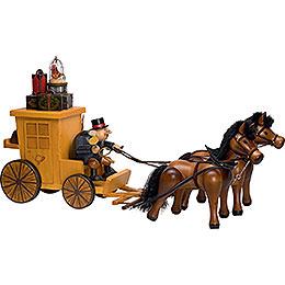 Smoker  -  Post Horse and Carriage  -  Edge Stool  -  32x70cm / 13x28 inch