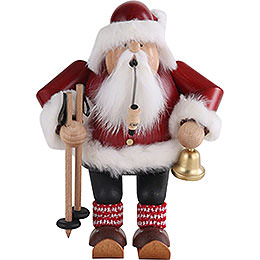 Smoker  -  Santa with Ski  -  20cm / 7.9 inch