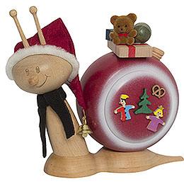 Smoker  -  Snail Sunny Christmas Snail  -  16cm / 6.3 inch
