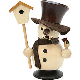 Smoker  -  Snowboy with Birdhouse Natural Colors  -  10,5cm / 4 inch