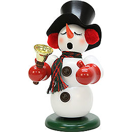 Smoker  -  Snowman with Bell  -  23cm / 9.1 inch