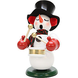 Smoker  -  Snowman with Drum  -  23,5cm / 9.2 inch