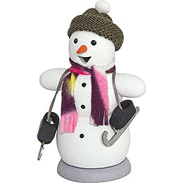 Smoker  -  Snowman with Ice Skates  -  13cm / 5.1 inch