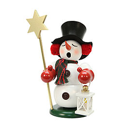 Smoker  -  Snowman with Star  -  23cm / 9 inch