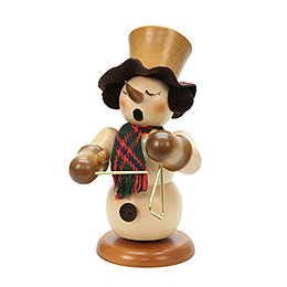 Smoker  -  Snowman with Triangle Natural Colors  -  23cm / 9 inch