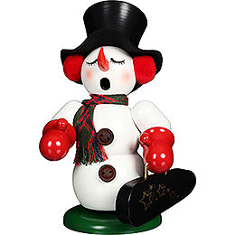 Smoker  -  Snowman with Violin Case  -  23cm / 9.1 inch