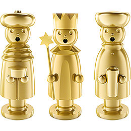 Smoker  -  The Three Wise Men  -  Stainless Steel, Gold - Plated  -  15cm / 5.9 inch