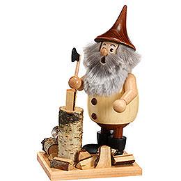 Smoker  -  Timber - Gnome Lumberjack on a Board  -  15cm / 6 inch