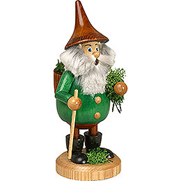 Smoker  -  Timber - Gnome Mossman Green  -  Hat Brown  -  15cm / 6 inch