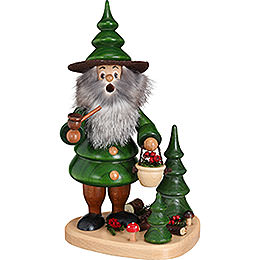 Smoker  -  Tree Gnome Berry Collector on Plateau  -  21cm / 8.3 inch