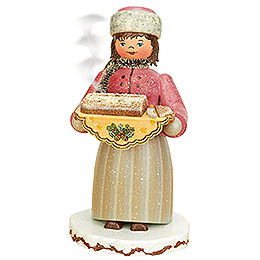 Smoker  -  Winterchild Girl with Stollen  -  20cm / 8 inch