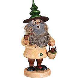 Smoker  -  Woodman Mushroom Collector Natural  -  21cm / 8.3 inch