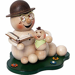 Smoker  -  Worm Grandad - Worm Rudi with Grandchild  -  14cm / 5.5 inch