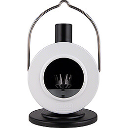 Smoking Stove Disc Oven White/Black  -  12cm / 4.7 inch