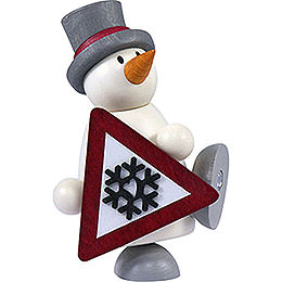 Snow Man Fritz with Sign  -  9cm / 3.5 inch