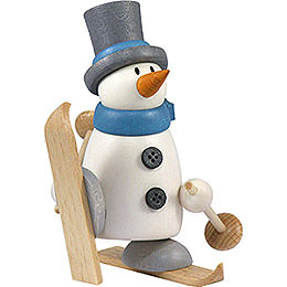 Snow Man Fritz with Ski  -  9cm / 3.5 inch