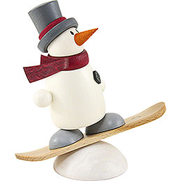 Snow Man Fritz with Snowboard  -  9cm / 3.5 inch