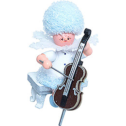 Snowflake with Cello  -  5cm / 2 inch
