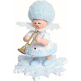Snowflake with Trumpet  -  5cm / 2 inch