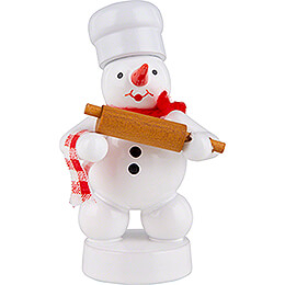 Snowman Baker with Dough Roll  -  8cm / 3.1 inch
