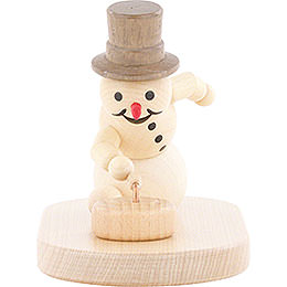 Snowman Curling Player with Stone  -  8cm / 3.1 inch