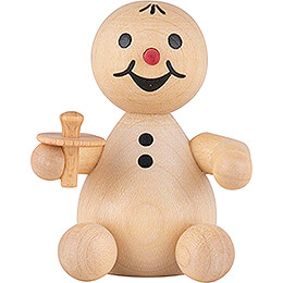 "Snowman  -  Junior ""Baby"" with pacifier  -  7cm / 2.8 inch"