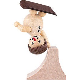 "Snowman  -  Junior ""Freestyle"" with helmet  -  14cm / 5.5 inch"