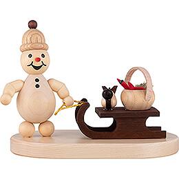 """Snowman  -  Junior """"Sleigh, Basket""""  -  8cm / 3.1 inch"""