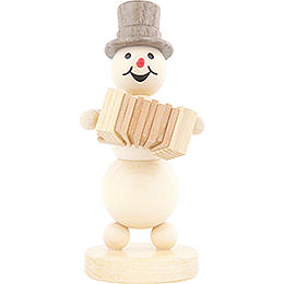Snowman Musician Accordion  -  12cm / 4.7 inch