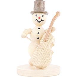 Snowman Musician Bass Violin  -  12cm / 4.7 inch