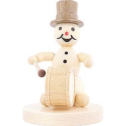 Snowman Musician Kettledrum  -  12cm / 4.7 inch