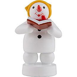 Snowman Musician Singer  -  8cm / 3 inch