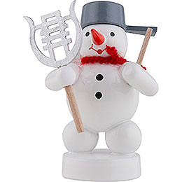 Snowman Musician with Lyre  -  8cm / 3 inch