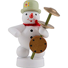 Snowman Musician with Stamp Violin  -  8cm / 3 inch