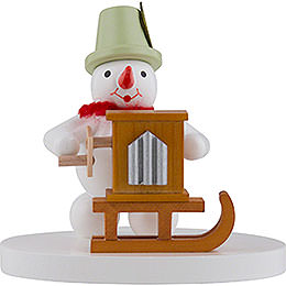Snowman Organ Grinder  -  8cm / 3 inch