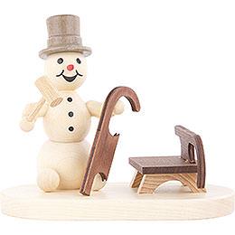 Snowman Sleigh Builder  -  8cm / 3.1 inch
