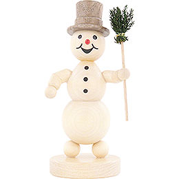 Snowman with Broom   -  12cm / 4.7 inch