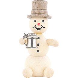 Snowman with Stein  -  8cm / 3.1 inch