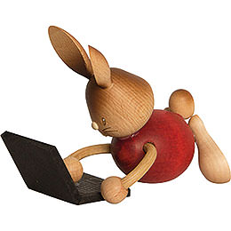Snubby Bunny with Laptop  -  12cm / 4.7 inch