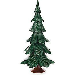 Solid Wood Tree  -  Green  -  15,5cm / 6.1 inch