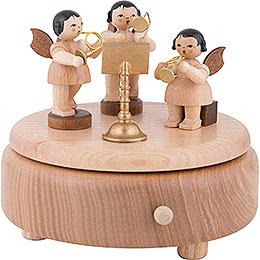 Spieldose mit Engeln, natur  -  12,5cm