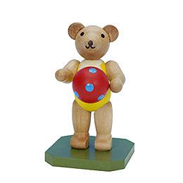 Spielzeugbär mit Ball  -  6,5cm