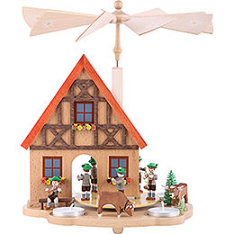 Tea Candle Pyramid Bavaria  -  29cm / 11.4 inch