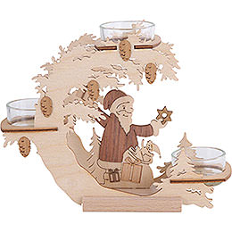 Tea Light Candle Holder  -  Santa Claus  -  15cm / 6 inch